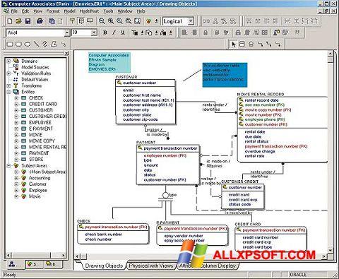 Skærmbillede ERWin Windows XP