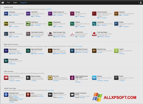 Skærmbillede Adobe Creative Cloud Windows XP