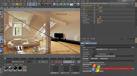 Skærmbillede CINEMA 4D Windows XP