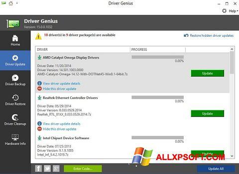 Skærmbillede Driver Genius Windows XP