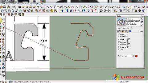 Skærmbillede SketchUp Windows XP