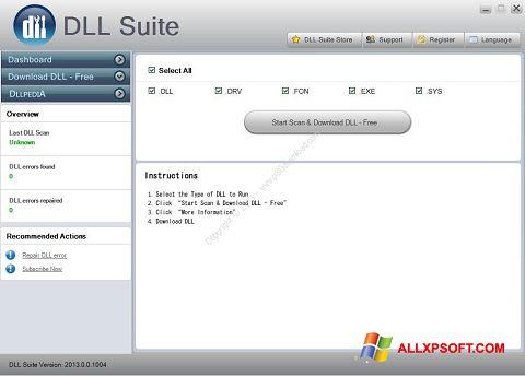Skærmbillede DLL Suite Windows XP