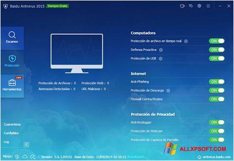 Skærmbillede Baidu Antivirus Windows XP