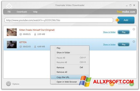 Skærmbillede Freemake Video Downloader Windows XP