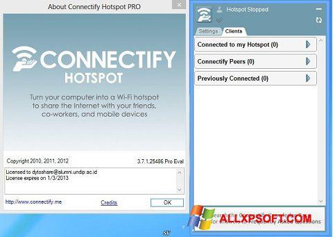 Skærmbillede Connectify Pro Windows XP