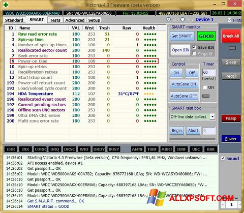 Skærmbillede Victoria Windows XP