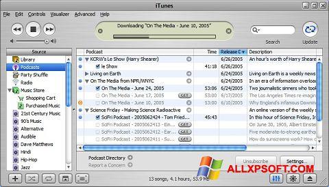 Skærmbillede iTunes Windows XP