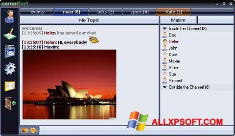 Skærmbillede CommFort Windows XP