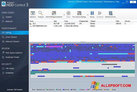 Skærmbillede Ashampoo HDD Control Windows XP