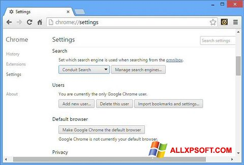 Skærmbillede Chrome Cleanup Tool Windows XP