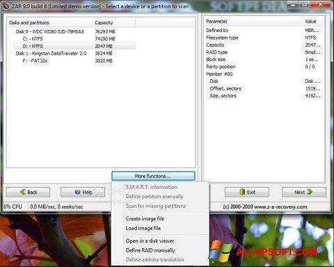 Skærmbillede Zero Assumption Recovery Windows XP