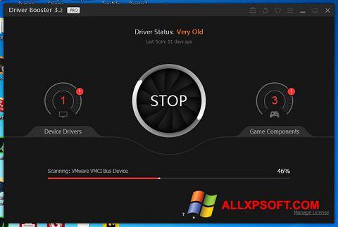 Skærmbillede Driver Booster Windows XP