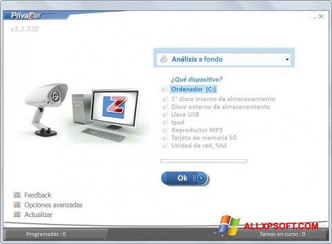Skærmbillede PrivaZer Windows XP