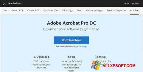 Skærmbillede Adobe Acrobat Windows XP