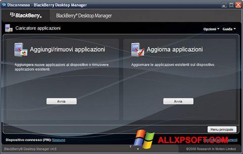 Skærmbillede BlackBerry Desktop Manager Windows XP