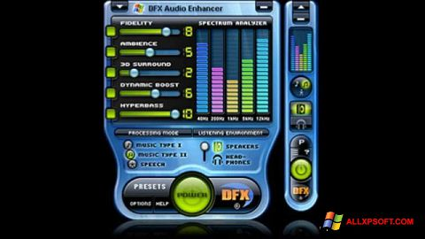 Skærmbillede DFX Audio Enhancer Windows XP