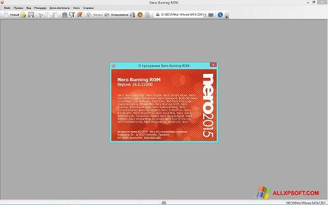 Skærmbillede Nero Windows XP