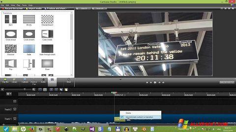 Skærmbillede Camtasia Studio Windows XP