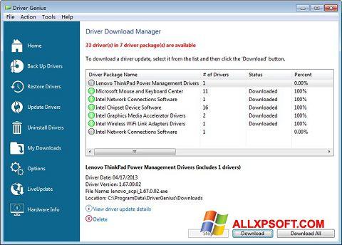 Skærmbillede Driver Genius Professional Windows XP