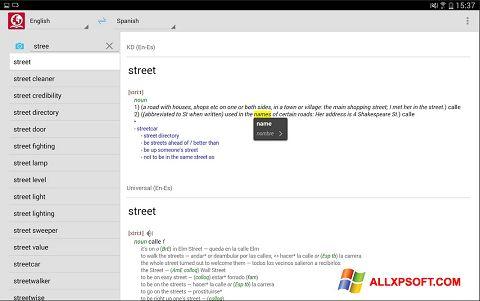 Skærmbillede ABBYY Lingvo Windows XP