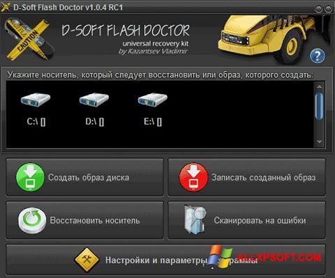 Skærmbillede D-Soft Flash Doctor Windows XP