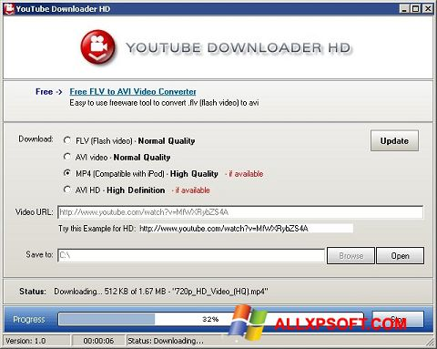 Skærmbillede Youtube Downloader HD Windows XP