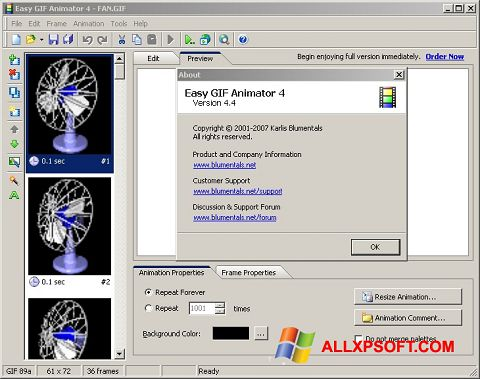 Skærmbillede Easy GIF Animator Windows XP