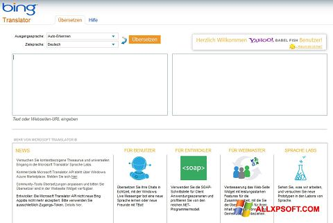 Skærmbillede Bing Translator Windows XP
