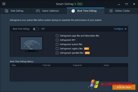 Skærmbillede Smart Defrag Windows XP