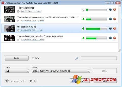 Skærmbillede Free YouTube Download Windows XP