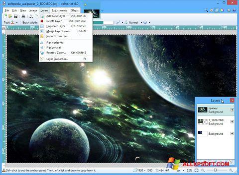 Skærmbillede Paint.NET Windows XP
